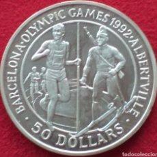Monedas antiguas de Oceanía: ISLAS COOK 50 DOLÁRES DE PLATA 1989. Lote 262001120