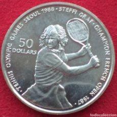 Monedas antiguas de Oceanía: NIUE 50 DOLÁRES DE PLATA 1987. Lote 262002050