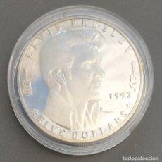 Monedas antiguas de Oceanía: ISLAS MARSHALL - 5 DOLARES 1993 DE CONMEMARTIVA DE ELVIS ARÓN PRESLEY - CAT SCHOEN Nº 151.1 - S / C. Lote 262135515