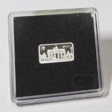 Monedas antiguas de Oceanía: LINGOTE DE PLATA DE ISLAS SALOMON 1/2 DOLAR DEL 2014.SON 2,5 GRAMOS DE PLATA PURA DE LEY 9999. PROOF. Lote 262589800