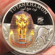 Monedas antiguas de Oceanía: ISLAS COOK 1 DOLAR 2012 PROOF PLATA 1 ONZA TUTANKAMUN REY DE EGIPTO. Lote 262825510