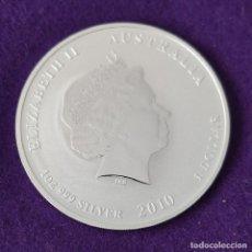 Monedas antiguas de Oceanía: MONEDA DE AUSTRALIA. 1 DOLAR. 2010 AÑO DEL TIGRE. 1 ONZA PLATA PURA. CALIDAD PROOF. ENCAPSULADA.. Lote 263292875