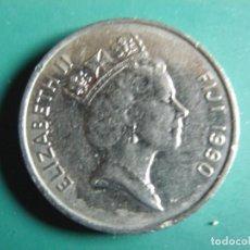 Monedas antiguas de Oceanía: MONEDA DE ISLAS FIJI 20 CENTS 1990. Lote 265141599
