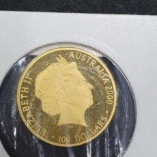 Monedas antiguas de Oceanía: 100 DOLARES AUSTRALIA. JUEGOS OLÍMPICOS DE SIDNEY 2000. 24KTS PESA 10,03 GRAMOS.. Lote 265499959