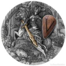Monedas antiguas de Oceanía: VALQUIRIA MUJER GUERRERA 2 OZ NIUE 2020. Lote 266027323