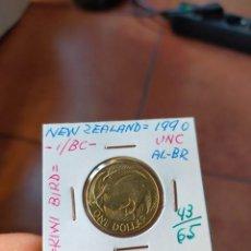 Monedas antiguas de Oceanía: MONEDA DE 1 UN DOLLAR DOLAR NUEVA ZELANDA NEW ZEALAND 1990 KIWI PAJARO SIN CIRCULAR. Lote 266188473