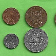 Monedas antiguas de Oceanía: JERSEY. 8 MONEDAS DE 8 MODELOS DIFERENTES. Lote 266288648