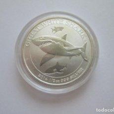 Monedas antiguas de Oceanía: AUSTRALIA * 50 CENTS 2014 * TIBURON BLANCO * 1/2 ONZA DE PLATA PURA. Lote 266458668