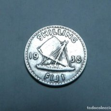 Monete antiche di Oceania: MONEDA DE PLATA DE 1 CHELIN DE LAS ISLAS FIJI DEL EMPERADOR JORGE V AÑO 1935. Lote 266950929