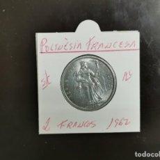 Monete antiche di Oceania: POLINESIA FRANCESA 2 FRANCOS 1962 S/C KM=3 (ALUMINIO). Lote 267092384
