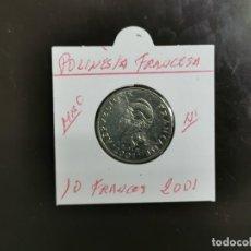 Monete antiche di Oceania: POLINESIA FRANCESA 10 FRANCOS 2001 MBC KM=8 (NIQUEL). Lote 267094069