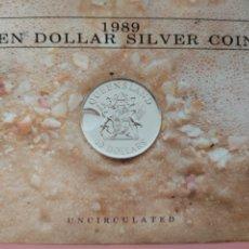Monedas antiguas de Oceanía: ESTUCHE 10 DÓLARES PLATA AUSTRALIA 1989. Lote 267772529