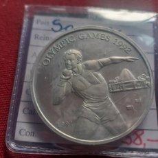 Monete antiche di Oceania: SAMOA. 10 TALA DE PLATA DE 1992. OLIMPIADA DE BARCELONA. Lote 268161524