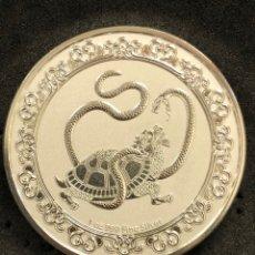 Monedas antiguas de Oceanía: ONZA MONEDA LINGOTE DE PLATA PURA PROOF - ANIMALES CELESTIALES- NIUE- 2021. Lote 269159348