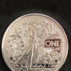 Monedas antiguas de Oceanía: ONZA MONEDA LINGOTE DE PLATA PURA PROOF- ESCUDO DE ARMAS - AUSTRALIA 2021. Lote 269159863