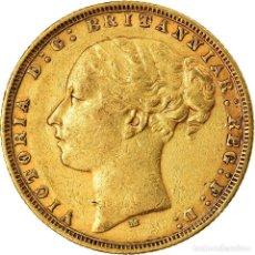 Monedas antiguas de Oceanía: [#873495] MONEDA, AUSTRALIA, VICTORIA, SOVEREIGN, 1876, MELBOURNE, MBC, ORO, KM:7. Lote 269191863