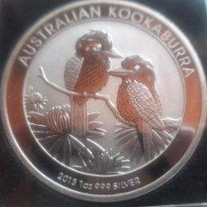 Monete antiche di Oceania: KOOKABURRA 2013 1$ ONZA DE PLATA PURA AUSTRALIA EN CÁPSULA ANTI-HUMEDAD. Lote 269310473