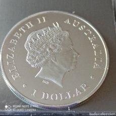 Monedas antiguas de Oceanía: 1 DÓLAR ISABEL II, AUSTRALIA SALTWATER COCODRILE, BAÑO DE PLATA CALIDAD PROOF.. Lote 270522323