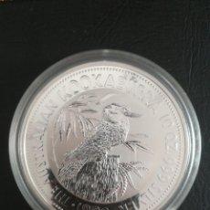 Monedas antiguas de Oceanía: MONEDA 10 DOLLARS AUSTRALIA 1992 KOOKABURRA 311 GR PLATA PURA 999. Lote 294959373
