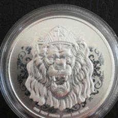 Monedas antiguas de Oceanía: MONEDA 2 DOLLARS NIUE 2021 PLATA 31 GR 1 OZ 999 LEON. Lote 272222888