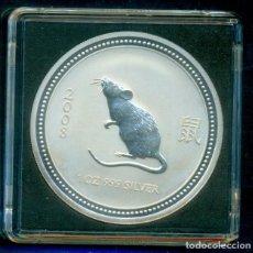 Monedas antiguas de Oceanía: AUSTRALIA - 1 DOLAR / 1 ONZA DE PLATA PURA 999 MILESIMAS - AÑO DE LA RATA 2007. SIN CIRCULAR.. Lote 275284813