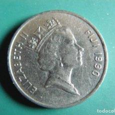 Monedas antiguas de Oceanía: MONEDA DE ISLA FIJI 20 CENTS 1990. Lote 276213853