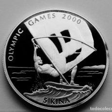 Monedas antiguas de Oceanía: PAPUA NUEVA GUINEA 5 KINA 1997 - JJOO WIND SURF. PLATA PROOF. Lote 276215423