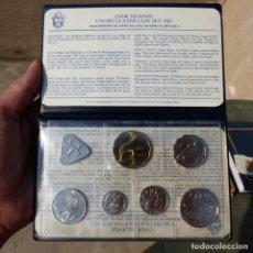 Monedas antiguas de Oceanía: COOK ISLANDS , SET DE MONEDAS SIN CIRCULAR , 1987 + REGALO BILLETE 3 DOLLARS. Lote 276555238