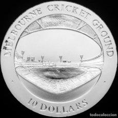 Monedas antiguas de Oceanía: AUSTRALIA 10 DÓLARES 1998 - CRICKET. PLATA PURA PROOF. MUY ESCASA. Lote 276598453