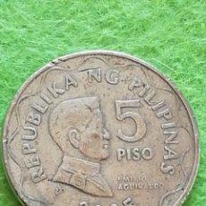 Monedas antiguas de Oceanía: MONEDA DE 5 PISO FILIPINOS. USADOS. Lote 277567813