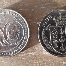 Monedas antiguas de Oceanía: MONEDA NIUE 5 DOLLARS 1988 VIII CAMPEONATO DE FUTBOL ALEMANIA. Lote 277648578