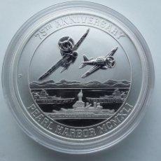 Monedas antiguas de Oceanía: MONEDA DE UNA ONZA DE PLATA 75º ANIVERSARIO PEARL HARBOR 2016 TUVALU. Lote 277673388