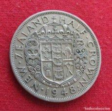 Monedas antiguas de Oceanía: NUEVA ZELANDA 1/2 CROWN 1948 NEW ZEALAND. Lote 278287288
