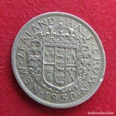 Monedas antiguas de Oceanía: NUEVA ZELANDA 1/2 CROWN 1950 NEW ZEALAND. Lote 278288048