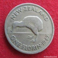 Monedas antiguas de Oceanía: NUEVA ZELANDA 1 FLORIN 1947 NEW ZEALAND. Lote 278290273