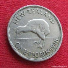 Monedas antiguas de Oceanía: NUEVA ZELANDA 1 FLORIN 1948 NEW ZEALAND. Lote 278290333
