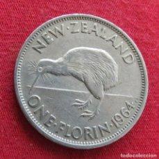 Monedas antiguas de Oceanía: NUEVA ZELANDA 1 FLORIN 1964 NEW ZEALAND. Lote 278290478