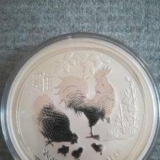 Monedas antiguas de Oceanía: MONEDA 10 DOLLARS AUSTRALIA 2017 AÑO DE GALLO PLATA PURA 999 10 OZ 311 GR. Lote 278416988