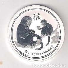 Monedas antiguas de Oceanía: MONEDA DE 50 CÉNTIMOS (1/2 ONZA) DE AUSTRALIA DE 2016 HORÓSCOPO CHINO AÑO DEL MONO. (ME1915). Lote 278459093