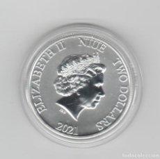 Monedas antiguas de Oceanía: NIUE- 2 DOLARES-2021-STAR WARS- 1 ONZA-PROF-ENCAPSULADA. Lote 278478713