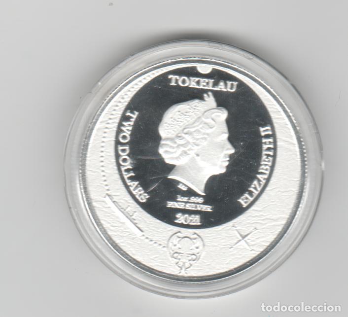 TOKELAU- 2 DOLARES- ONZA- 2021-PROF - ENCAPSULADA (Numismática - Extranjeras - Oceanía)