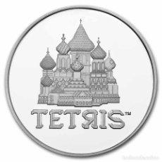 Monedas antiguas de Oceanía: MONEDA NIUE TETRIS 2021 1 ONZA TROY PLATA EN CAPSULA. Lote 282243988