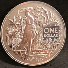 Monedas antiguas de Oceanía: MONEDA LINGOTE ONZA DE PLATA PURA - ESCUDO 2021 AUSTRALIA. Lote 285153243