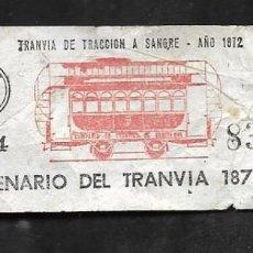 Monedas antiguas de Oceanía: BILLETE DEL CENTENARIO DEL TRANVIA 1872/1972. Lote 286350053
