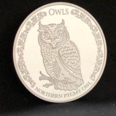 Monedas antiguas de Oceanía: MONEDA LINGOTE ONZA DE PLATA PURA - MOCHUELO 2021 TOKELAU. Lote 287550863
