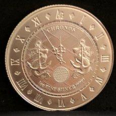 Monedas antiguas de Oceanía: MONEDA LINGOTE ONZA DE PLATA PURA - CHRONOS 2021 TOKELAU. Lote 287551668