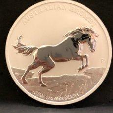 Monedas antiguas de Oceanía: MONEDA LINGOTE ONZA DE PLATA PURA - BRUMBY 2021 AUSTRALIA. Lote 287552728