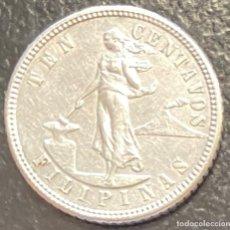 Monedas antiguas de Oceanía: FILIPINAS, MONEDA DE PLATA DE 10 CENTAVOS, AÑO 1904S. Lote 287658793