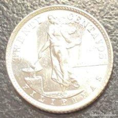 Monedas antiguas de Oceanía: FILIPINAS, MONEDA DE PLATA DE 20 CENTAVOS, AÑO 1941M. Lote 287660318