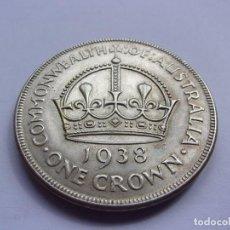 Monedas antiguas de Oceanía: 59SCK16 AUSTRALIA CORONA DE PLATA ESTERLINA 1938. MUY ESCASA. Lote 288376358